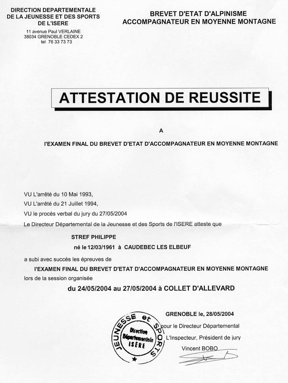 Nos diplomes et attestations - Attestation de tva 10 ...